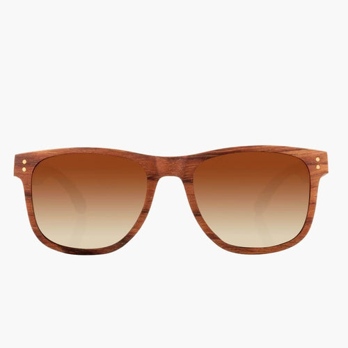 Ontario Wood Mahogany/Brown Fade Polarized Lens--Front View