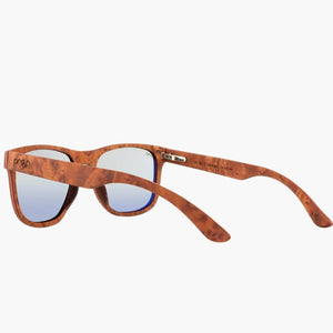Ontario Wood Rosewood/Polarized Lens--left side rear view