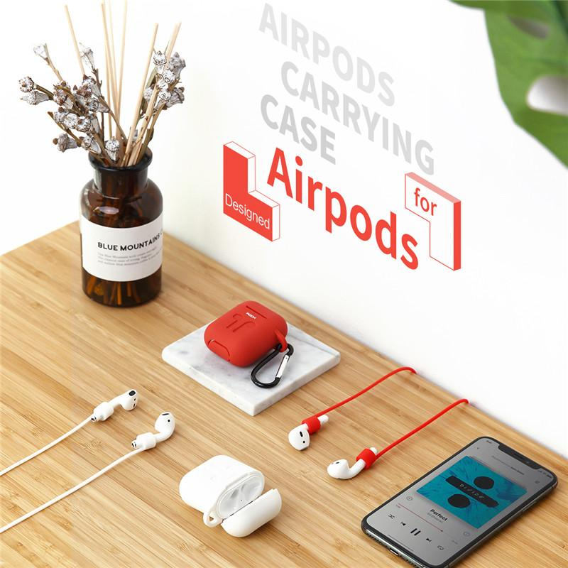 ROCK Silicone Apple AirPods Case w/ Bud Connector