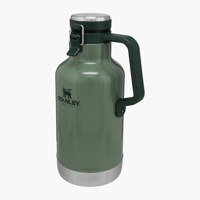 Stanley Classic Easy Pour Growler Green--angle view