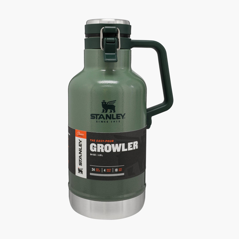 Stanley Classic Easy Pour Growler Green--label view
