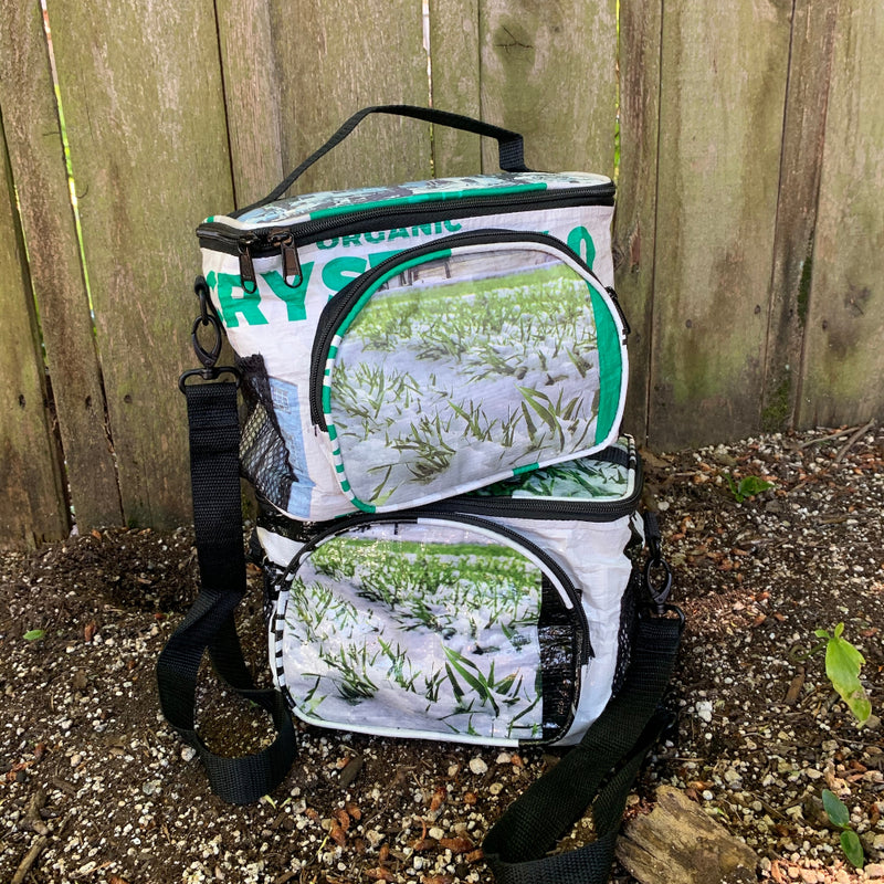 Torrain Plunge Cooler Bag Green White Black - two view