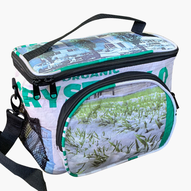 Torrain Plunge Cooler Bag Green White Black - front view