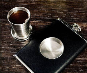 The Shot Flask--with filled shot glass