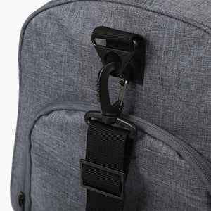Carry On Duffel Bag--strap attachment