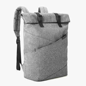 East Coast Laptop Rucksack--Gray--angled view
