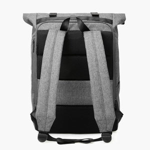 East Coast Laptop Rucksack--Gray--back