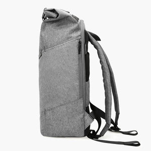 East Coast Laptop Rucksack--Gray--side view