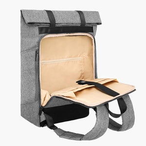 East Coast Laptop Rucksack--Gray--front pocket