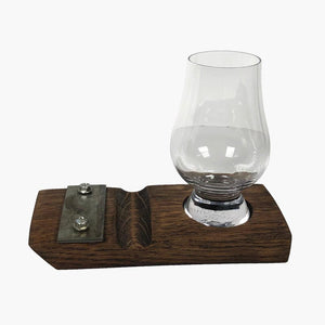Glencairn Whiskey Coaster with Cigar Rest