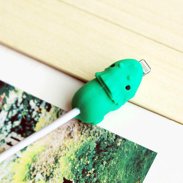 Cable Bites iPhone Lightning Cable Protector--triceratops