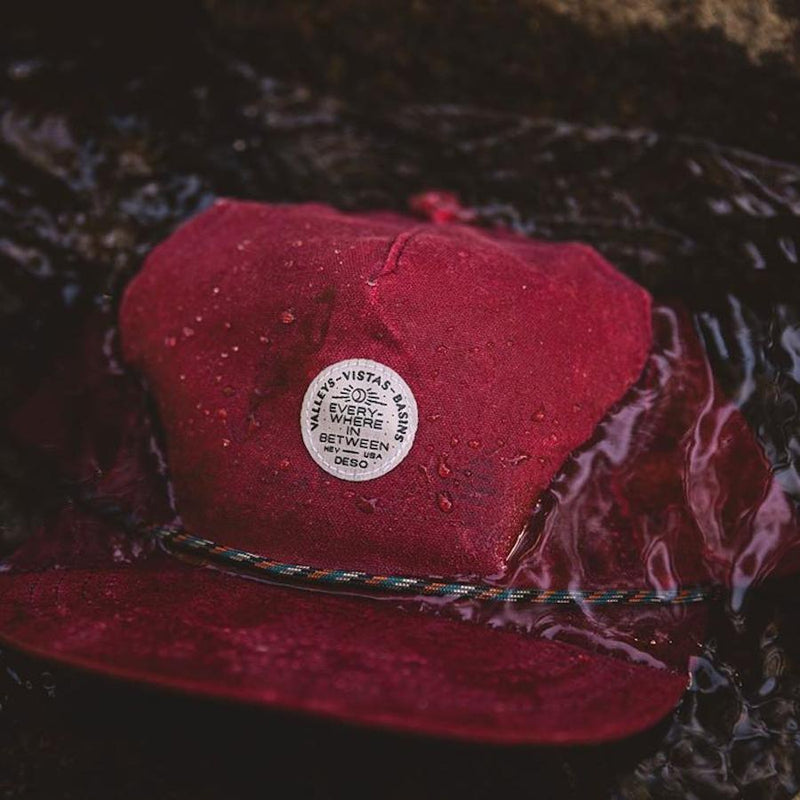 Everywhere in Between Waxed 5-Panel Burgundy Cap
