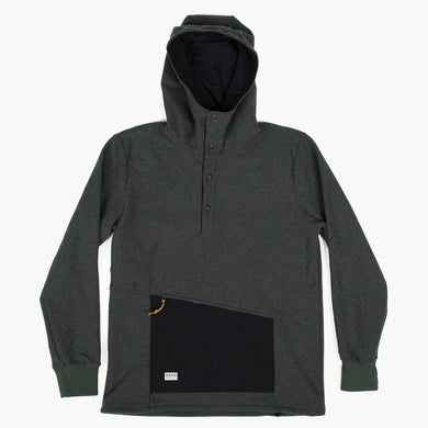 High Quality Half Snap Fleece Hoodie - Ropi Chinquapin - DESO Supply Co