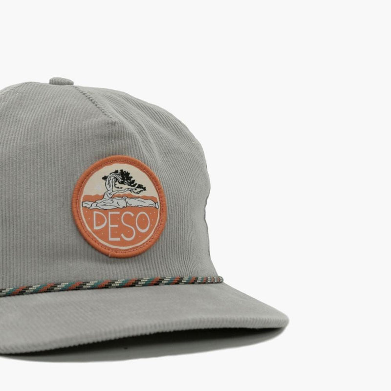 Bristlecone 5-Panel Corduroy Cap--front close-up