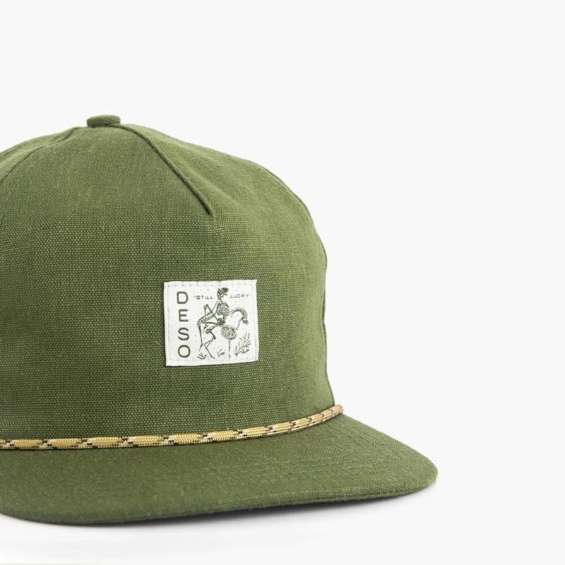 Hemp is Life 5-Panel Cap--front close-up