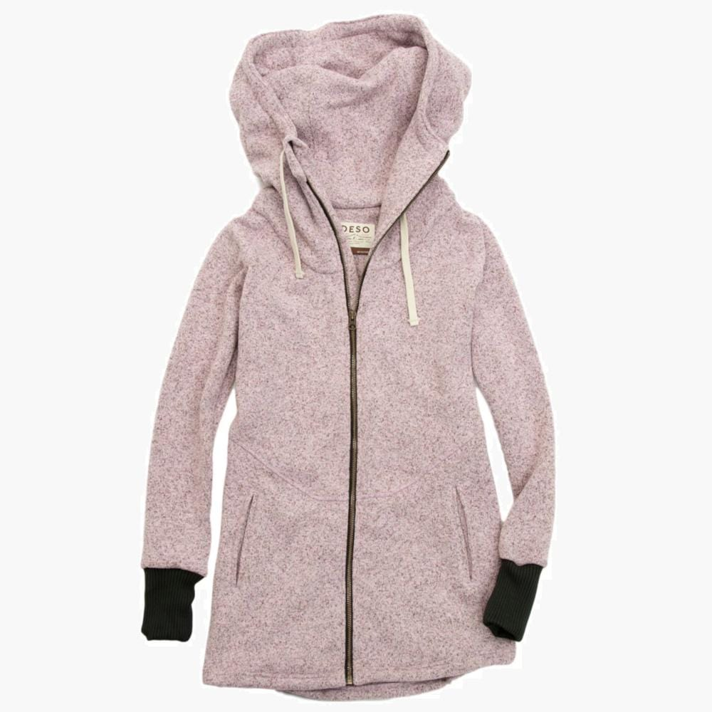Deso Supply Co. Heather Lilac Wanderer Zip Hoodie