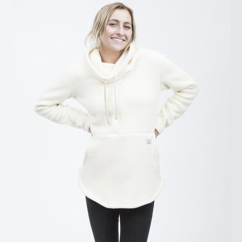 Deso Supply Co. Tallac Winter White Pullover--on model