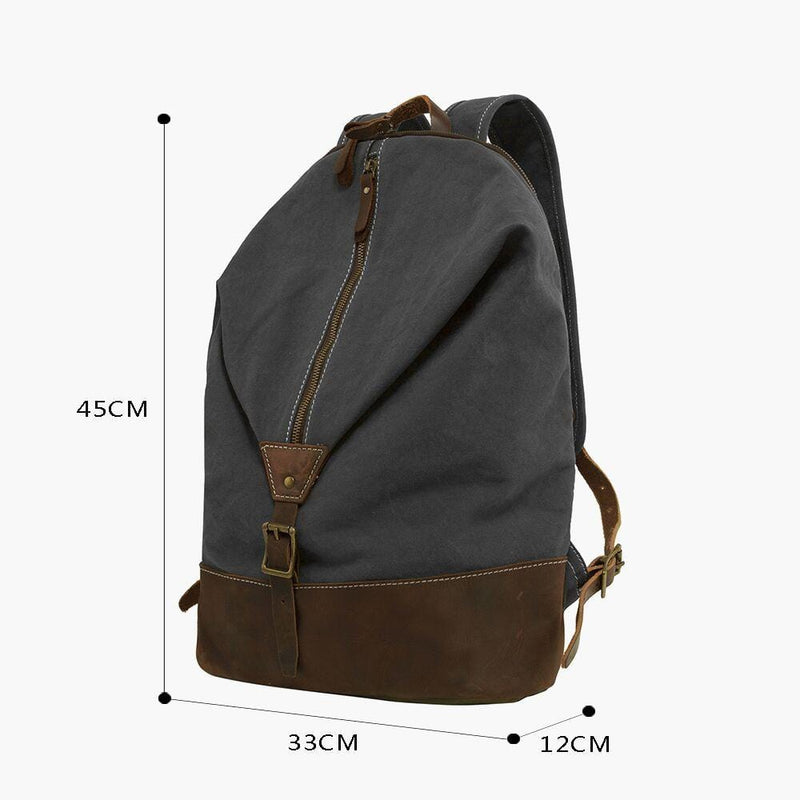 Canvas & Leather Rucksack--dimensions