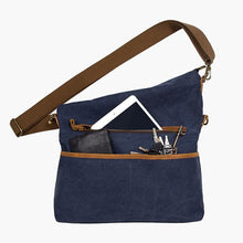 Load image into Gallery viewer, Hobo Canvas Messenger Bag--filled