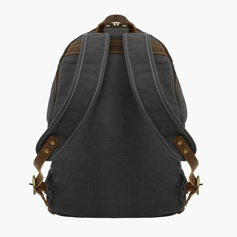 Canvas & Leather Rucksack--back