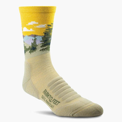 farm to feet cascade locks 3/4 crew sock desert tan color--main view