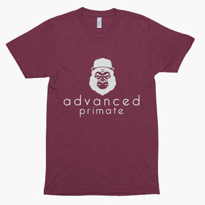 Advanced Primate Gorilla Soft Tee--Tri-Cranberry