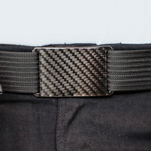Load image into Gallery viewer, Grip6 Men's Carbon Fiber Belt--black--close up