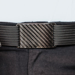 Grip6 Men's Carbon Fiber Belt--black--close up