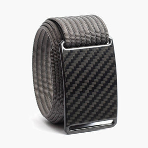 Grip6 Men's Carbon Fiber Belt--grey