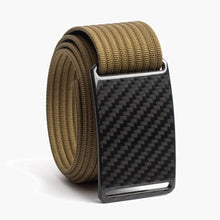 Load image into Gallery viewer, Grip6 Men's Carbon Fiber Belt--khaki