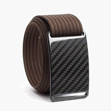 Load image into Gallery viewer, Grip6 Men's Carbon Fiber Belt--mocha