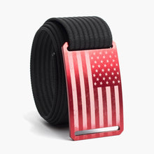 Load image into Gallery viewer, Grip6 USA Red Flag Belt--black