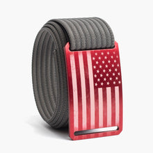 Load image into Gallery viewer, Grip6 USA Red Flag Belt--grey