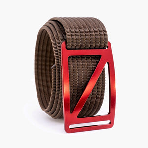 Grip6 Men's Slope Ember Belt--mocha