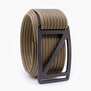 Grip6 Men's Slope Gunmetal Belt--khaki