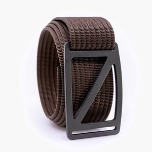 Grip6 Men's Slope Gunmetal Belt--mocha