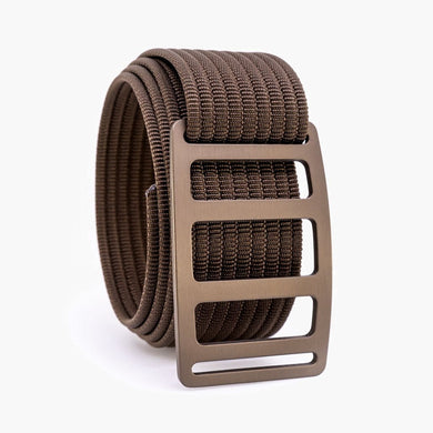 Grip6 Men's Vert Bronze Belt--mocha