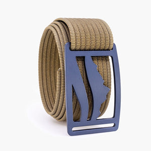 Grip6 Wasatch Blue Belt--khaki