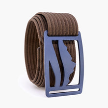 Load image into Gallery viewer, Grip6 Wasatch Blue Belt--mocha
