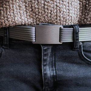 Grip6 Women's Classic Gunmetal Belt--worn--close up