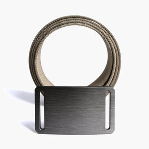 Grip6 Women's Classic Gunmetal Belt--buckle--close up