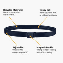 Load image into Gallery viewer, JeltX Navy Adjustable Elastic Belt--features