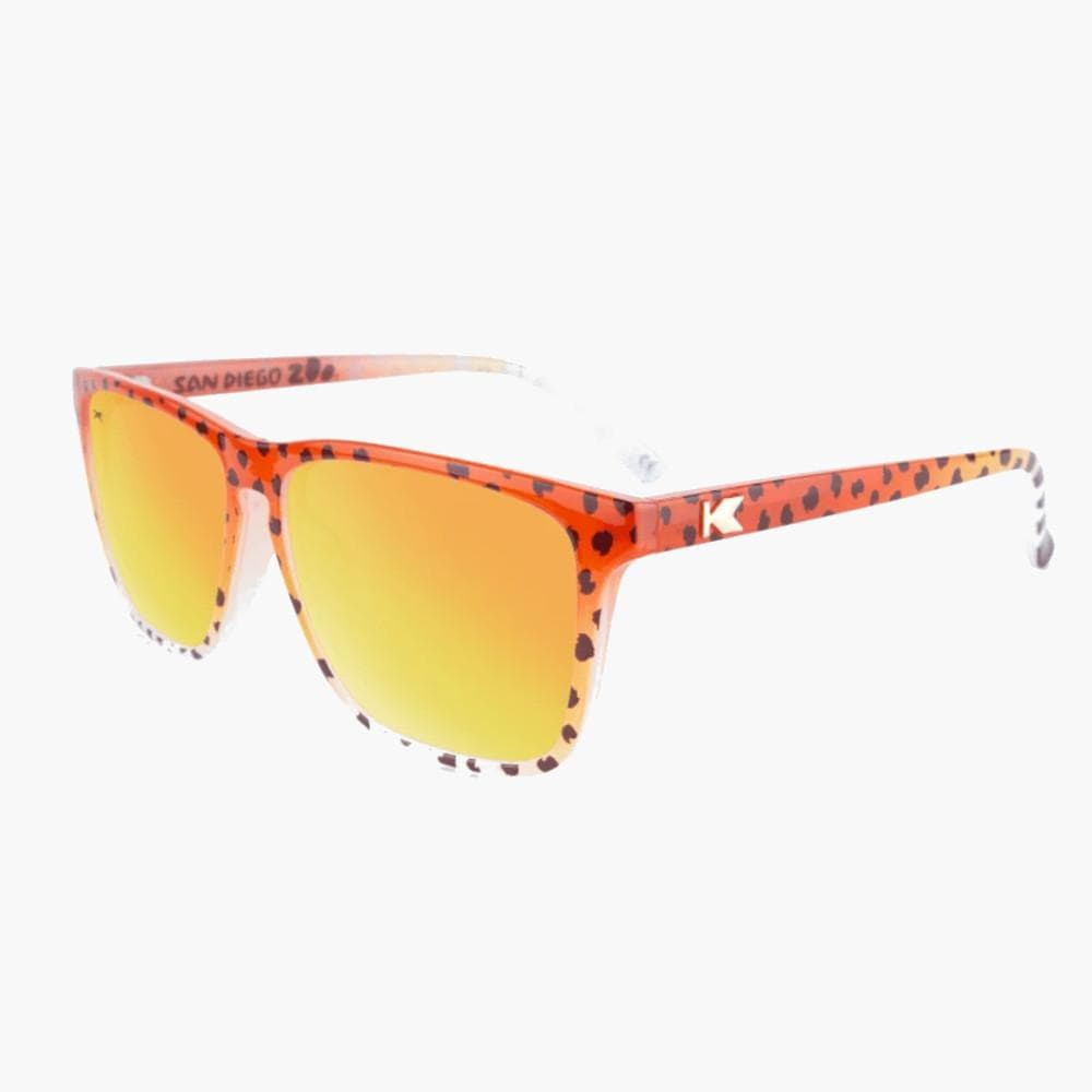 Knockaround Cheetah Limited Edition Fast Lane Sunglasses--flyover view