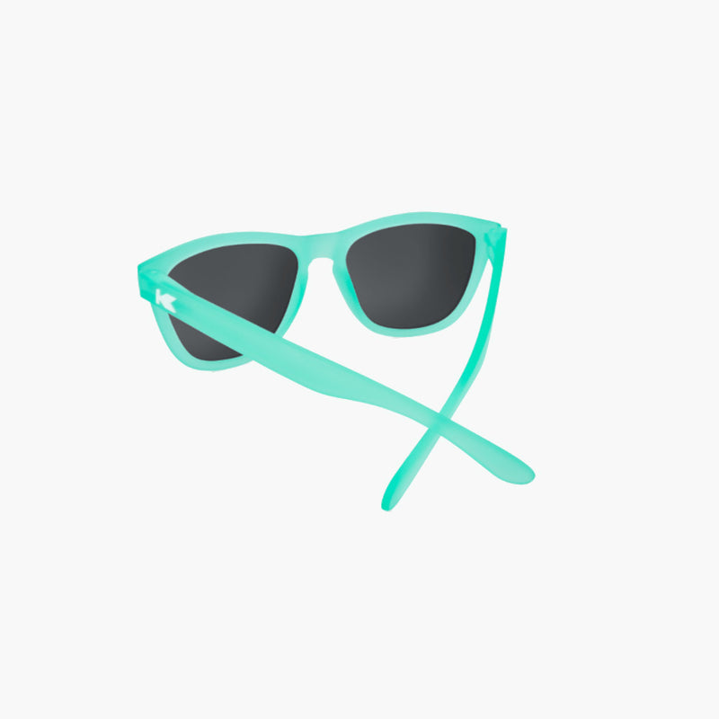 Knockaround Frosted Mint Aqua Premium Sunglasses--rear view