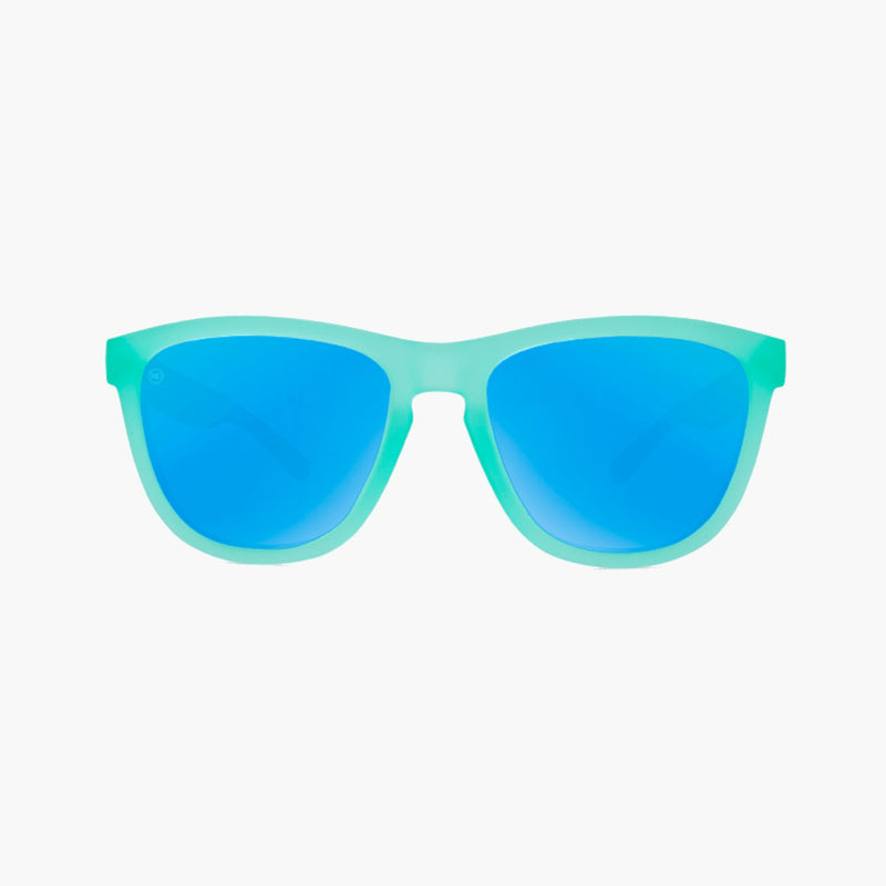 Knockaround Frosted Mint Aqua Premium Sunglasses--front view