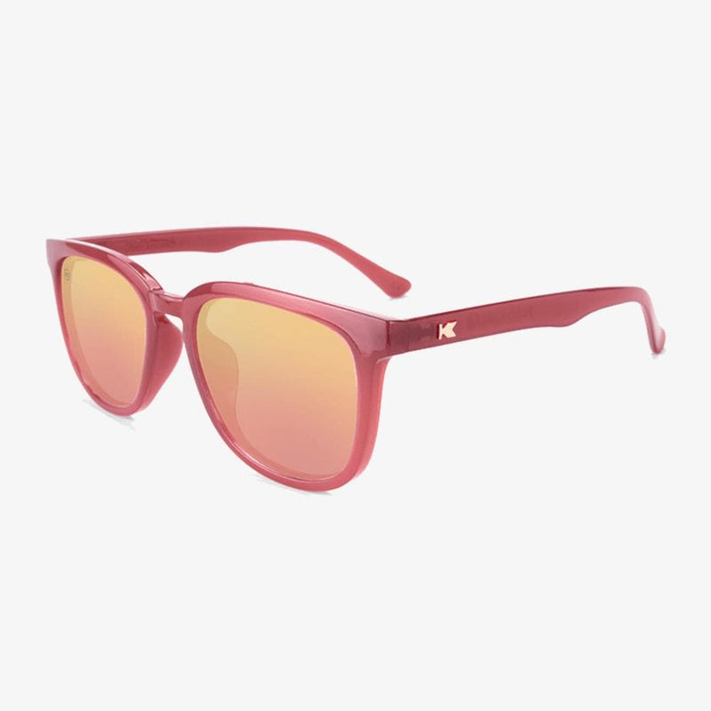 Knockaround Glossy Sangria Rose Gold Paso Robles Sunglasses--flyover view