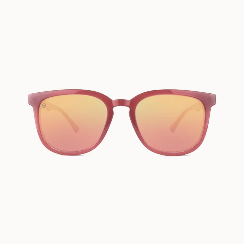 Knockaround Glossy Sangria Rose Gold Paso Robles Sunglasses--front view