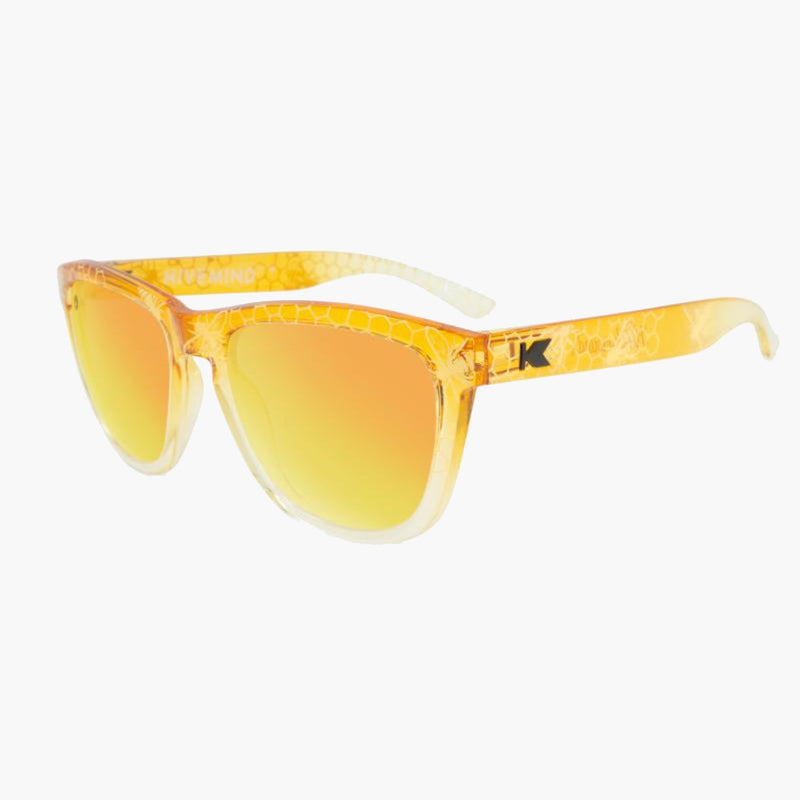 Hive Mind Premiums Knockaround Sunglasses--three quarter view