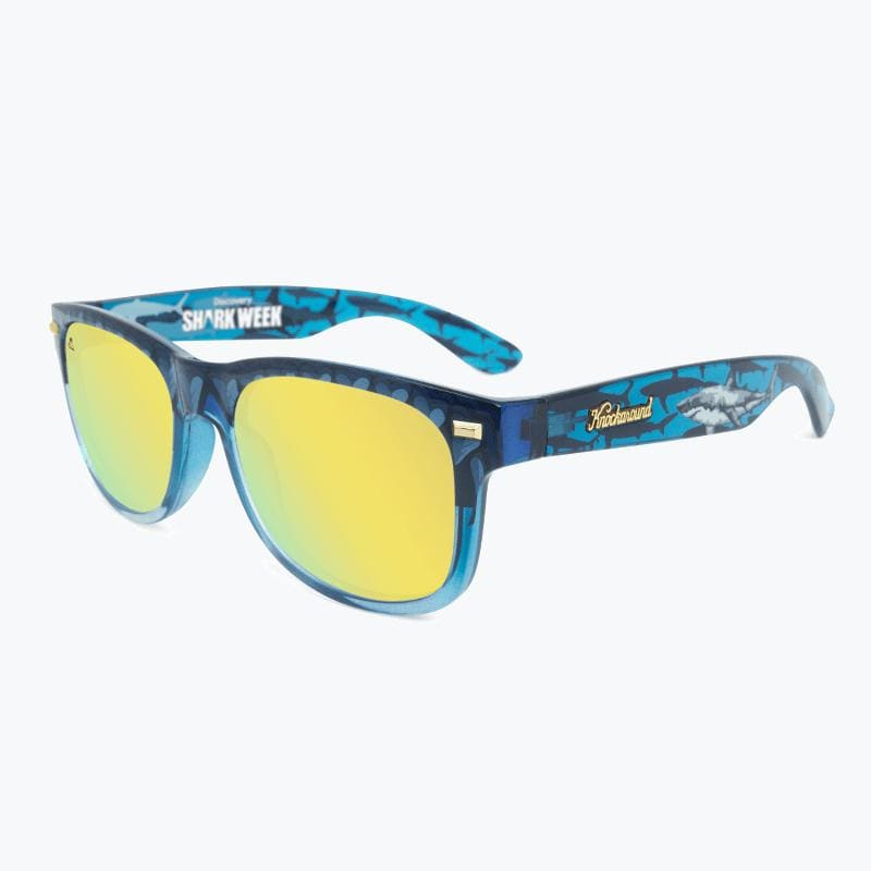 Knockaround Discovery Channel Shark Week Sunglasses 2020--top left view
