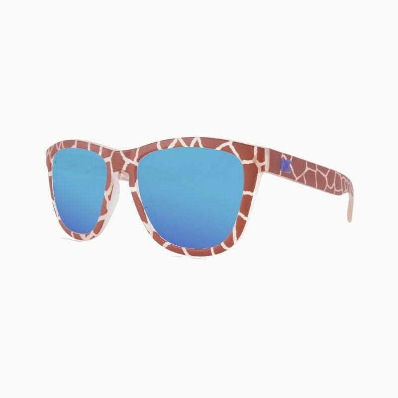 Knockaround Reticulated Giraffe Limited Edition Sunglasses--lower left view